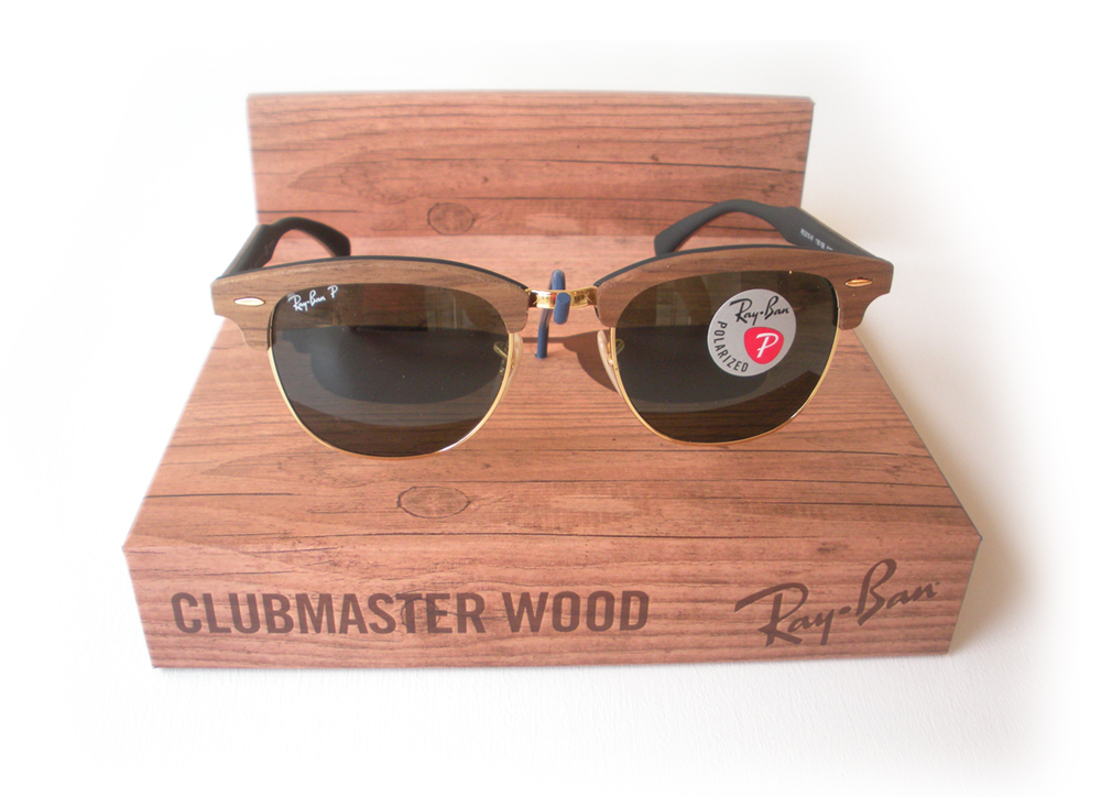 ray ban effetto legno