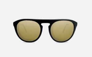 Occhiale da Sole FLAVIA - Nero con Lenti Oro